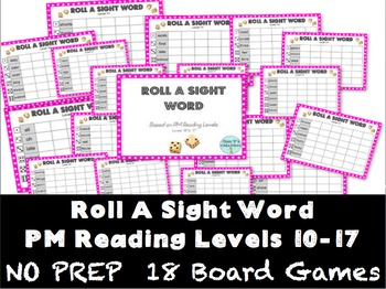 Roll A Sight Word - PM Benchmark Reading Levels 10 to 17