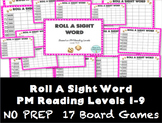 Roll A Sight Word- PM Benchmark Reading Levels 1 to 9
