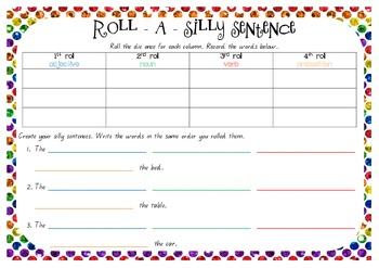 Roll A Silly Sentence