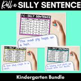Roll A Silly Sentence | Kindergarten Bundle | CVC & Common