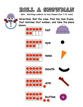 Roll A Snowman: 16 Differentiated Games for Number Rec. and Addition Strategies