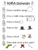 Roll-A-Snowman Dice Game