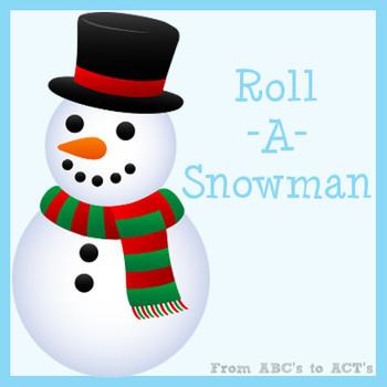Roll A Snowman Preschool Game