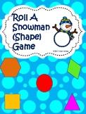 Roll A Snowman (Shape) Game
