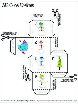 Roll A Snowman Tally and Graphing Activity