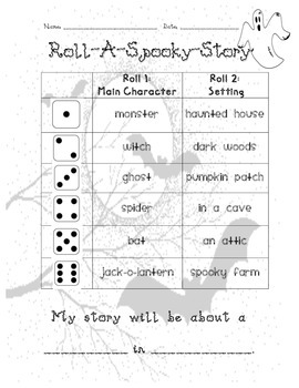 Roll A Spooky Story
