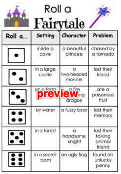 Roll A Story Narrative Options