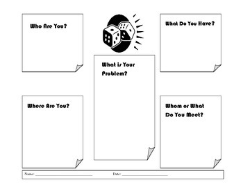 Roll-A-Story Narrative Writing Activity