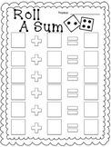 Roll A Sum- Addition Game