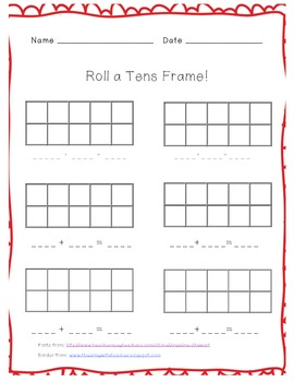 Roll A Tens Frame
