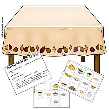Roll A Thanksgiving Dinner {Spanish} / El Día de Acción de Gracias