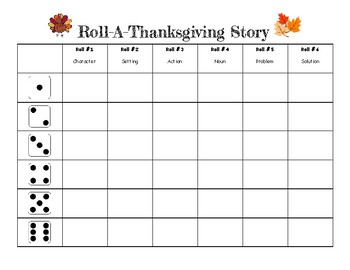 Roll-A-Thanksgiving Story