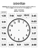 Roll-A-Time Independent Math Activity for Telling Time