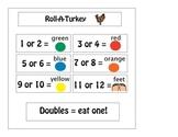 Roll-A-Turkey Thanksgiving Edible Math Activity