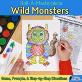 Teach Art: Wild Monster Drawing Game & Art Sub Plans and Art Lesson Ideas