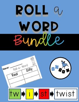 Roll A Word Activity: A Fundational Phonics Level 1 BUNDLE!