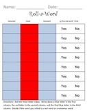 Roll A Word - Nonsense Word Review
