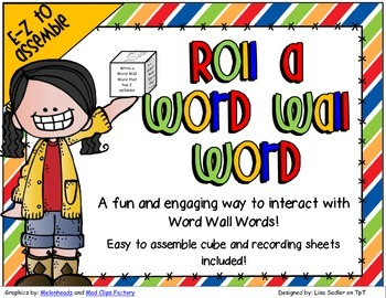 Roll-A-Word Wall Word Activity - Cube and Sheets Included
