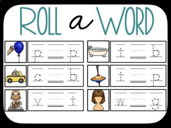 Roll A Word- short vowel literacy center