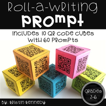 Roll A Writing Prompt QR Code Cubes