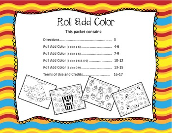 Roll Add Color {Addition Practice}