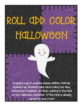 Roll, Add, Color- HALLOWEEN