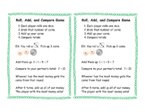 Roll Add Compare Coin Money Game