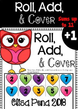 Roll, Add, & Cover Board Game (Valentines Day Themed)