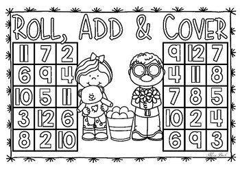 Roll, Add & Cover- Valentine Theme