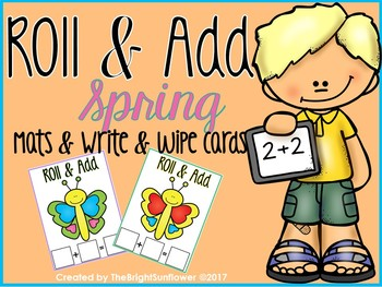 Roll & Add Spring Mats & Write & Wipe cards