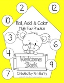 Roll, Add, and Color -Back to School Edition