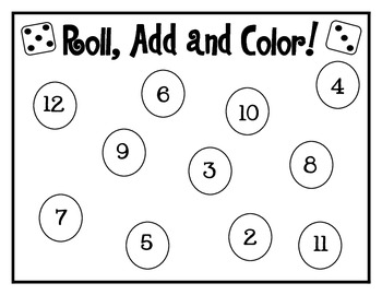 Roll, Add and Color! {FREEBIE!}