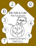 Roll, Add, and Color - Halloween Edition