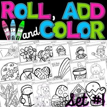 Roll, Add, and Color Printable Pack {BUNDLE!}