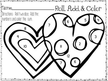 Roll, Add, and Color Printable Pack {Set #2}