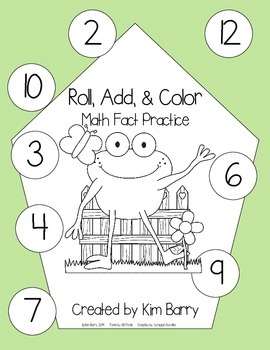Roll, Add, and Color - Spring Frog Edition