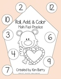 Roll, Add, and Color - Valentine's Day Edition
