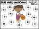 Roll, Add, and Color the Basketball (Focus Numbers 10-20)