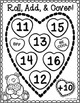 Roll, Add, and Cover Math Games {Valentine's Day}