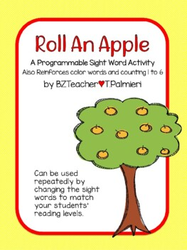Roll An Apple - Programmable for Sight Words