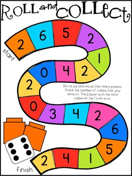 Roll And Collect Math Center