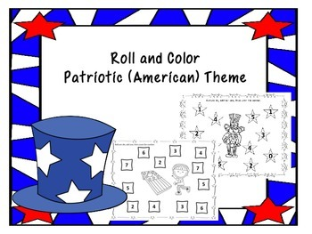 Roll And Color Patriotic Theme -(American)