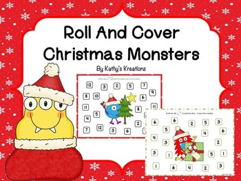 Roll And Cover Christmas Monsters FREEBIE