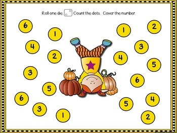 Roll And Cover Fall Bundle (Printables and SMART Board)