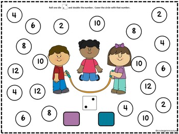 Roll And Cover Let's Play SMART Board