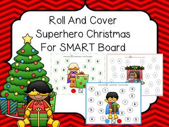 Roll And Cover SMART Board Superhero Christmas