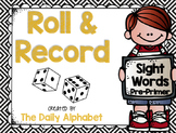 Roll And Record: Pre-Primer Sight Words