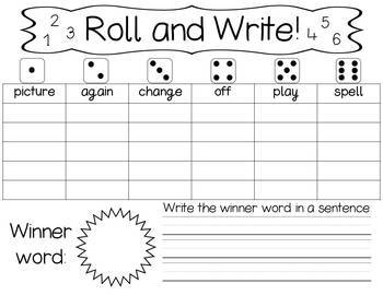 Roll And Write - High Frequency Words - Fry 101-200