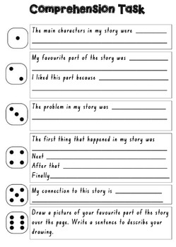 Roll & Write Comprehension Task