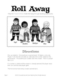 Roll Away Math Addition and Subtraction Game: Full Version, BW